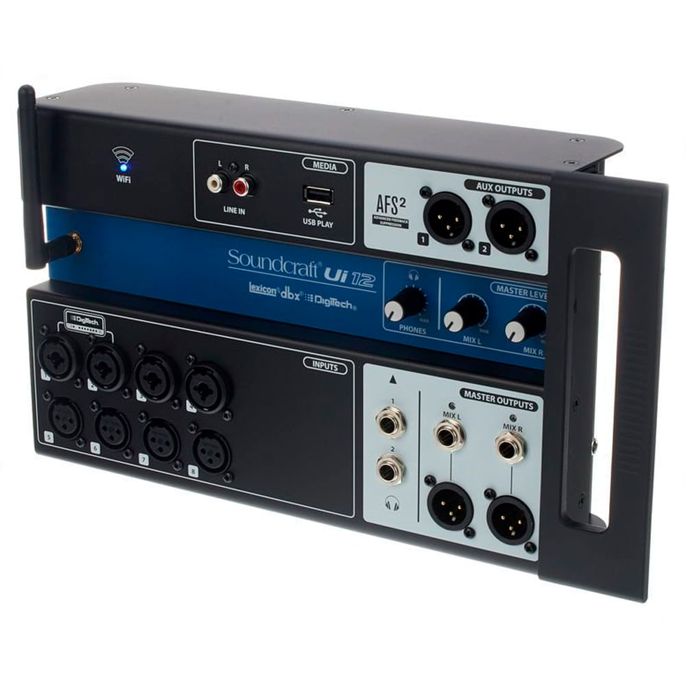 Mesa-de-Som-Digital-Soundcraft-UI12-USB-12-Canais-Preto-lateral