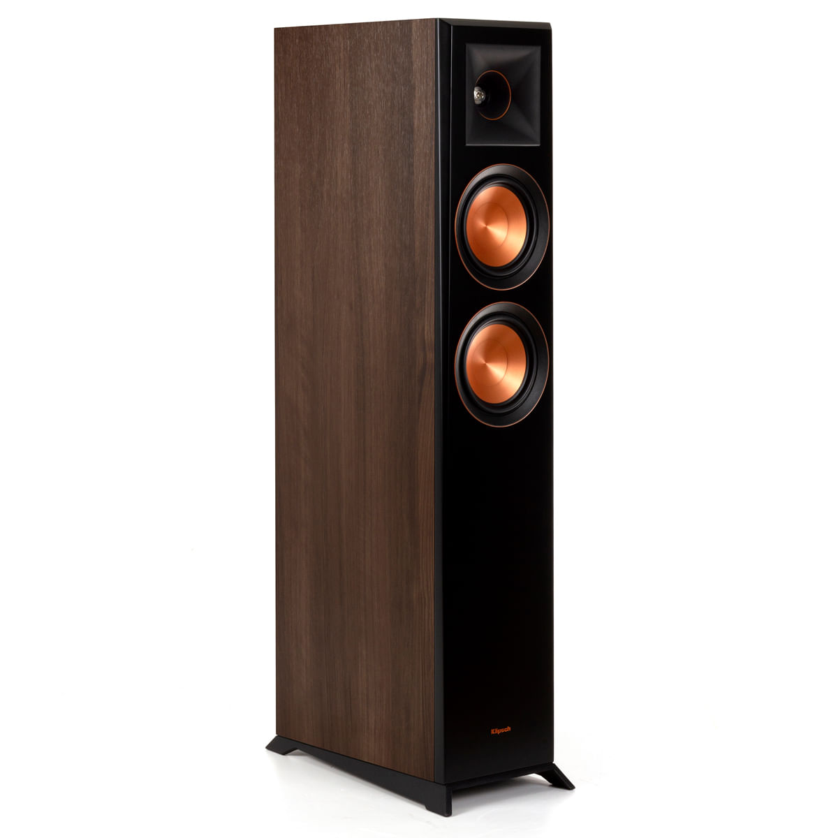 Klipsch-Reference-Premiere-RP-5000F-Walnut-Lateral-Sem-Tela
